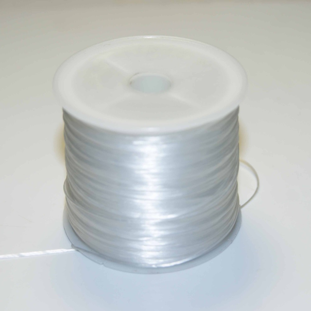 Hot Sales White Crystal Elastic Line Rope Beading Wire Jewelry Making 0.4-1.0mm