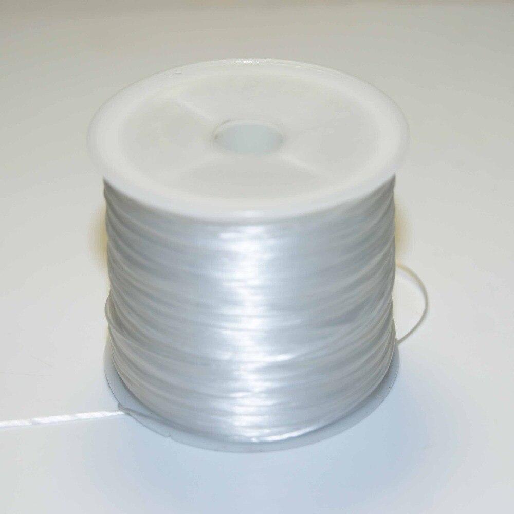 Оптовая продажа, 60 м/рулон, 1 мм, яркая стрейчевая строка со стразами для изготовления ювелирных изделий