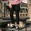 Viishow одежда нью-весна досуг брюки и личность мода улица черные брюки мужчины