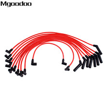 Mgoodoo 10cs/lot Spark Plug Ignition Wire Cable Set M12259R301 Fittment For FORD MUSTANG F-150 5.0L 5.8L V8 SBF 302W 302 WINDSOR
