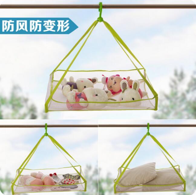 Large Square Single Tier Folding Laundry Basket Sweater Drying Basket Clothing Net Bag