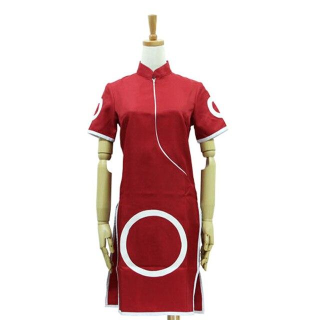 Anime Naruto Cosplay Haruno Sakura 1st Generation Cheongsam Dress Costume 2nd Generation Clothing Set