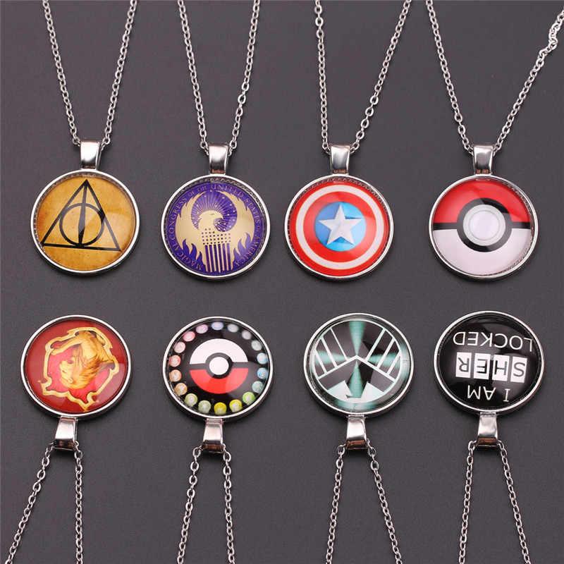 Avengers Necklace Accessories i am sher locked Captain America Horcrux Pokemon Choker Necklace Women Kolye