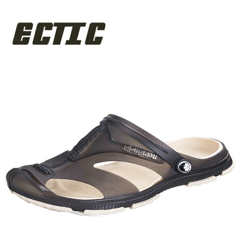 ECTIC New 2018 letní lehká plážová slipperová obuv Dýchatelná - Pánské boty