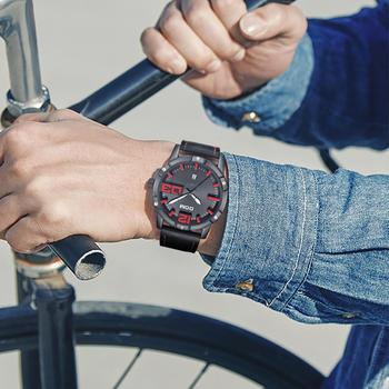 DOM Men's Casual Leather Business Calendar Date Display Waterproof Quartz Watches 3