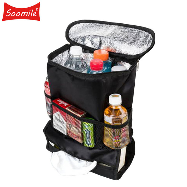479061cece88 US $8.08 35% OFF|Soomile Multi function Pumping Paper Car Cooler Bag Brand  Insulated Container Basket Picnic Dinner bag Organization Ice Pack-in ...