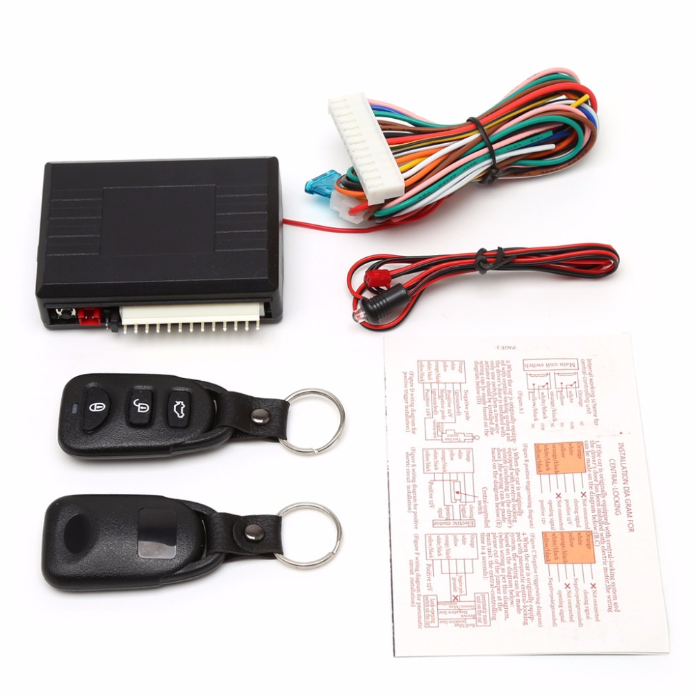 Universal Car Alarm Systems Door Lock Auto Vehicle Keyless Entry Remote Central Locking Kit Wiring Diagram System W Control Box High Quality C45 In Burglar From Automobiles