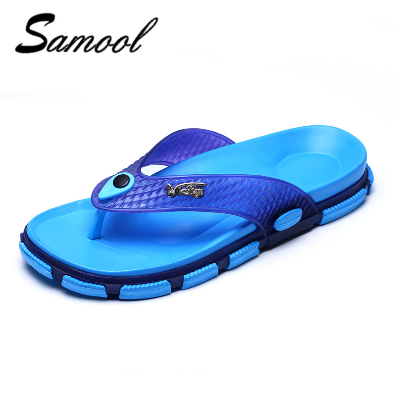 Summer Mens flip flops Beach Sandals for Men Flat Slippers non-slip Sandals pantufa Zapatillas Hombre jelly Beach Shoes Y1