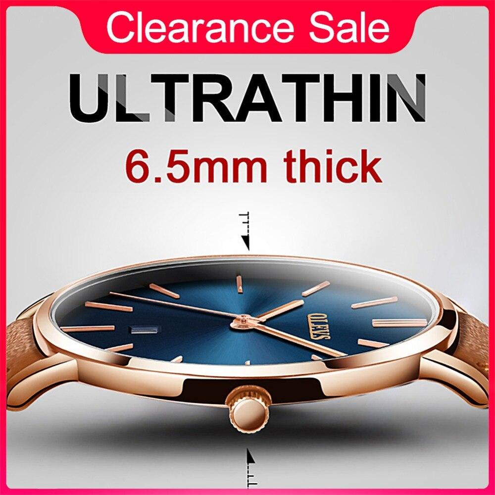 Bărbați ceasuri de lux Brand Olevs Quartz Genuine curea din piele - Ceasuri bărbați