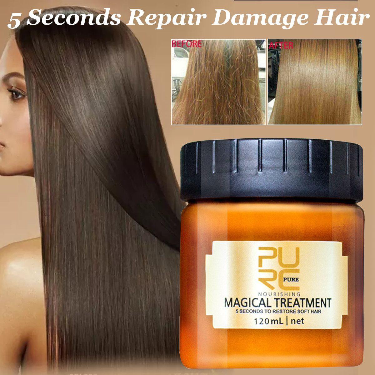 120ml PURC Magical Treatment Hair Mask Nutrition Infusing Masque 5 Seconds Repairs Hair Damage Restore Soft Hair Free Shipping