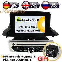 5f89b7d0a Android8 4g RAM Android7 3 Carro DVD CD Player para Renault Megane Fluence  2009-2015 Car GPS Satnav unidade de navegação GPS som.