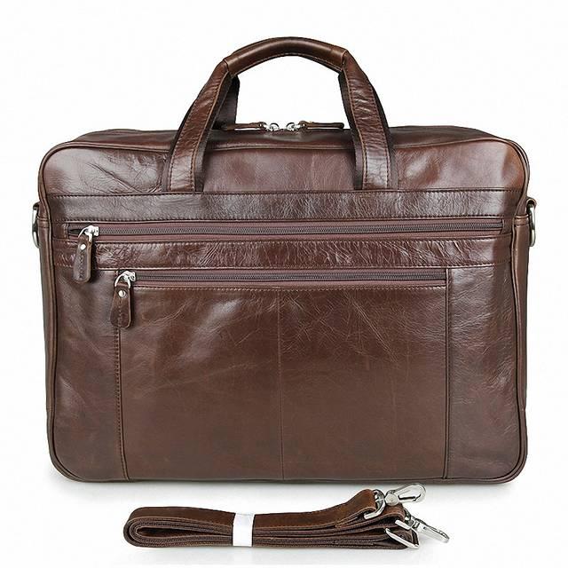 92417544b5a placeholder Genuine Leather Men Briefcase 17 Inch Business Laptop Tote Bag  Cowhide Men s Messenger Bags Lawyer Handbag