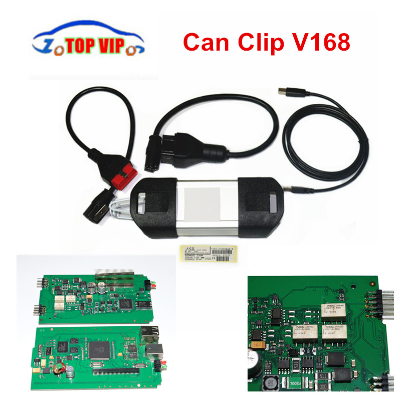3pcs/lot Best Price High Quality Re-na-ul-t Can Clip V168 Version OBD2 Professional Scanner Can Clip Auto Diagnostic Scan Tool freeshipping cc1101 module 868m with small antenna high quality best price