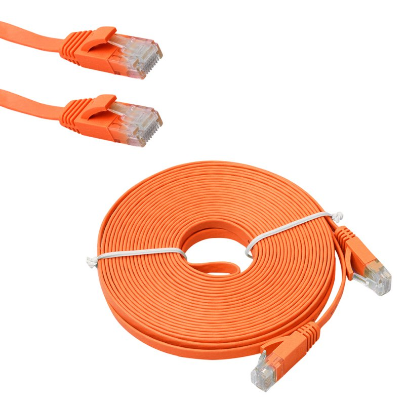 1M 2M 3M 5M 10M CAT 6 Flat UTP Ethernet Network Cable RJ45 Patch LAN Cord Noodles Network line 7529