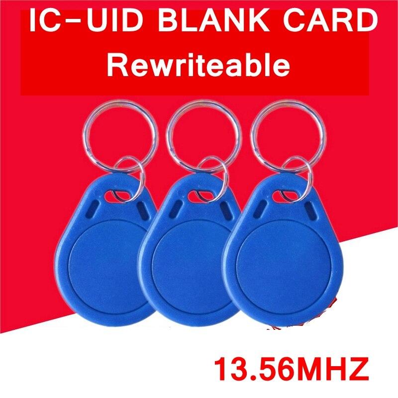 1PCS Key Ring IC-UID Blank card IC-UID Chinese magic card 13.56MHZ rewriteable blank IC Card MI S50 Card clone COPY