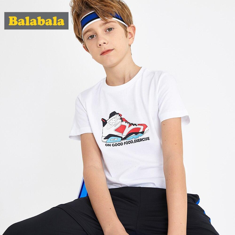 T-Shirt Balabalaboys Clothing Printed Short-Sleeve Cotton Children Summer New Casual