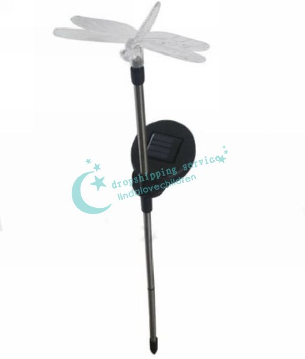 Colorful dragonfly lamp light control solar garden lawn decorative lights Hot Drop Shipping/Free Shipping
