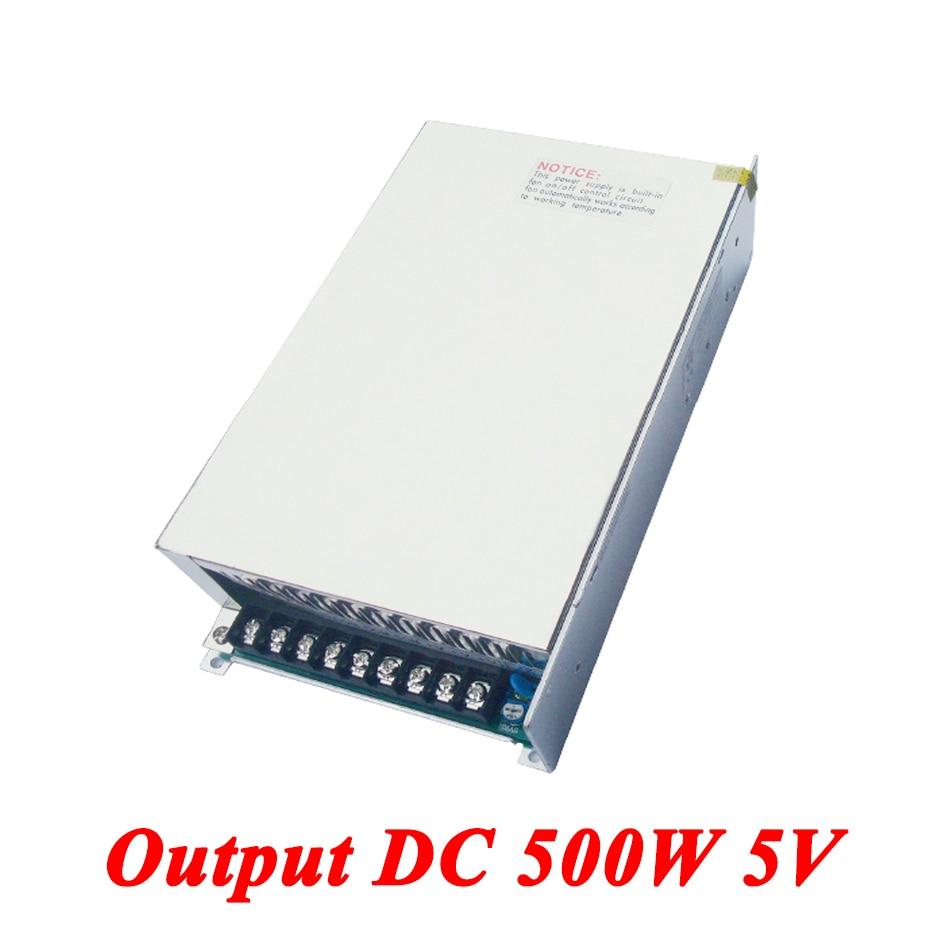 S-500-5 Switching Power Supply 500W 5v 70A,Single Output AC-DC Converter For Led Strip,AC110V/220V Transformer To DC,led Driver 500w 5v 70a single output switching power supply for led strip light ac to dc led driver