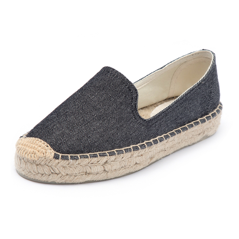 Loafer women platform espadrilles for spring and summer