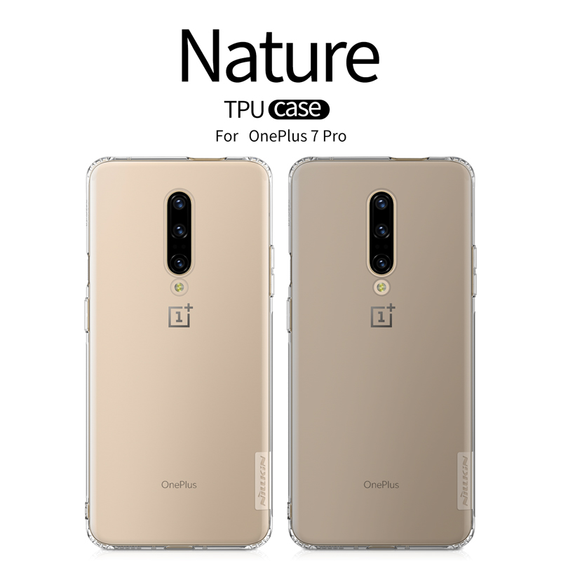 <font><b>Oneplus</b></font> 6 7 pro case Nillkin nature Transparent Clear Soft silicon TPU Protector case cover For <font><b>oneplus</b></font> 6 <font><b>A6000</b></font> 7T 6T oneplus6 image