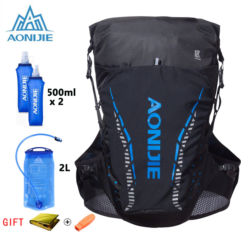 AONIJIE C943 Lightweight Hydration Backpack Rucksack Bag Vest For 2L Water Bladder Hiking Camping Running Marathon Race SM