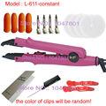 Pro loof rosa/preto ferros fusão conectores para i ponta da extensão do cabelo/u ponta do cabelo pré-ligado extensões l-611 constante