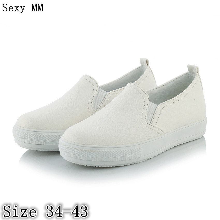 Slip On Shoes Women Oxfords Shoes Loafers Flats Woman Casual Flat Shoes High Quality Plus Size 34 - 40 41 42 43 akexiya casual women loafers platform breathable slip on flats shoes woman floral lace ladies flat canvas shoes size plus 35 43