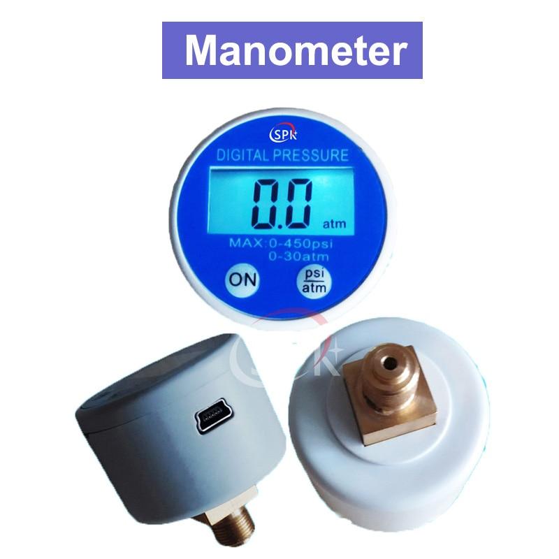 SPD G1/8 40mm 5 v Batterie-Powered Manometer Manometer 450psi RS232 USB