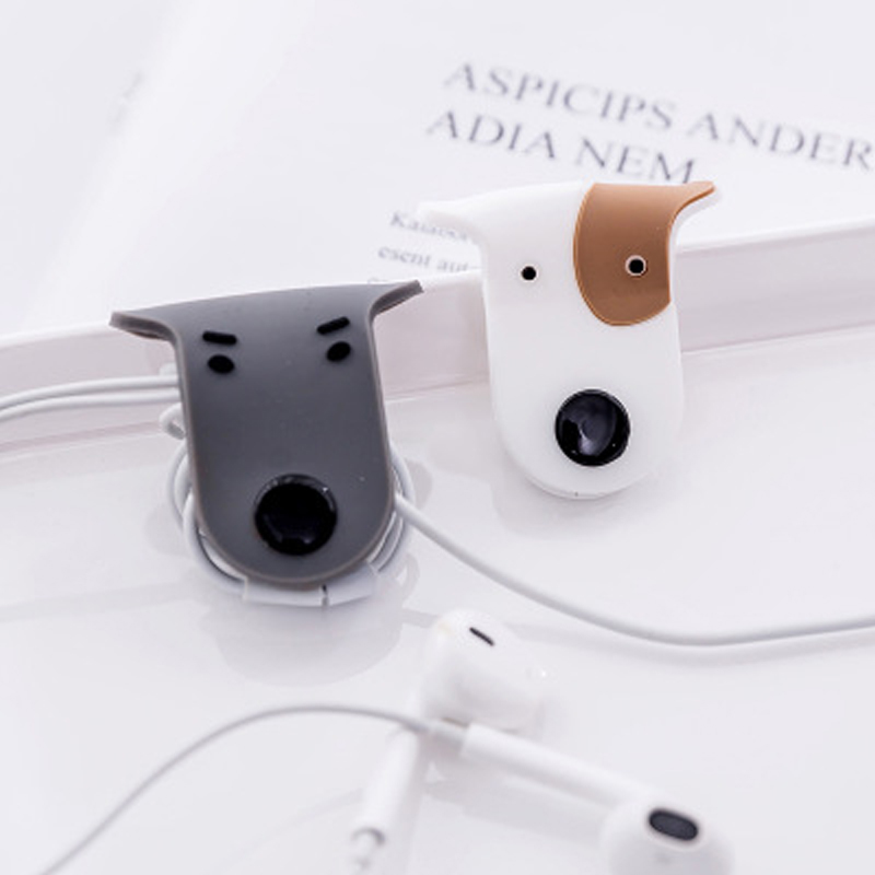Organizer Cable-Winder Storage-Holder Earphone Magnetic Clips Cord Data-Cable Soft-Silicone