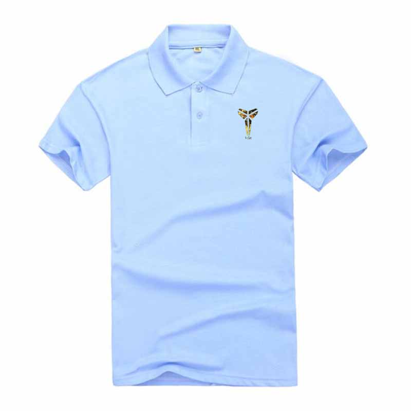 New Men's   Polo   Shirt Men's Casual Kobe Printed Cotton   Polo   Shirt Men's Short Sleeve High Quality   Polo   Men's Business Shirt