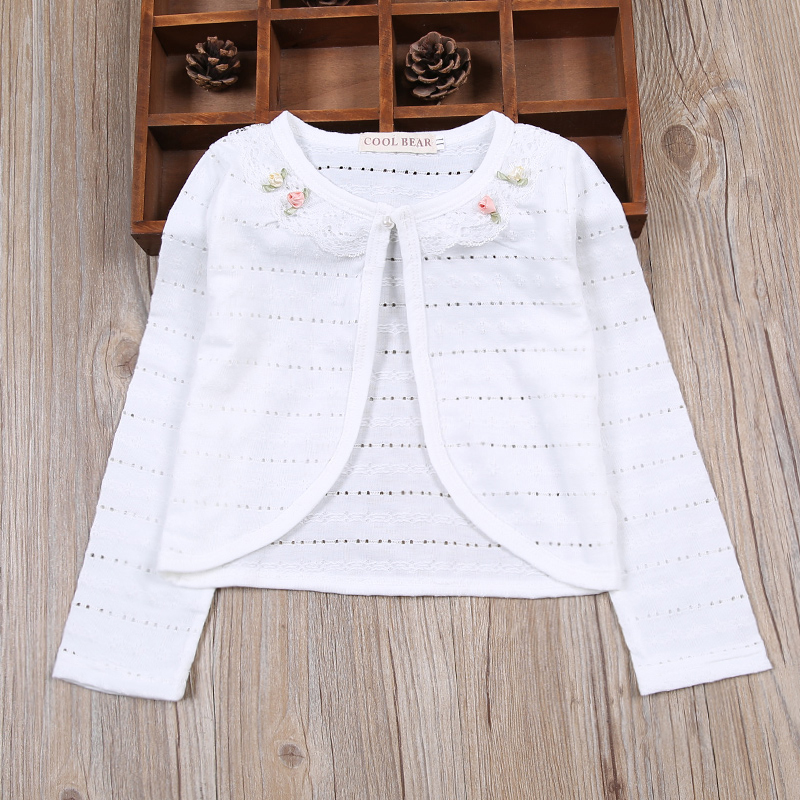 bddc2831ae RL Kids Cardigan Sweater Girls Princess Party Wear Girls Jacket Coat  Children Shrug 2019 Kids Clothing