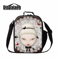 Dispalang Cartoon Lunch Bag For Girls Cute Doll Print Insulated Lunch Cooler Bag Portable Lunch Container
