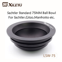 XILETU LSW 75 75mm Aluminum Alloy Tripod Ball Adapter Bowl for Gitzo Manfrotto Sachtler Video Fluid Head