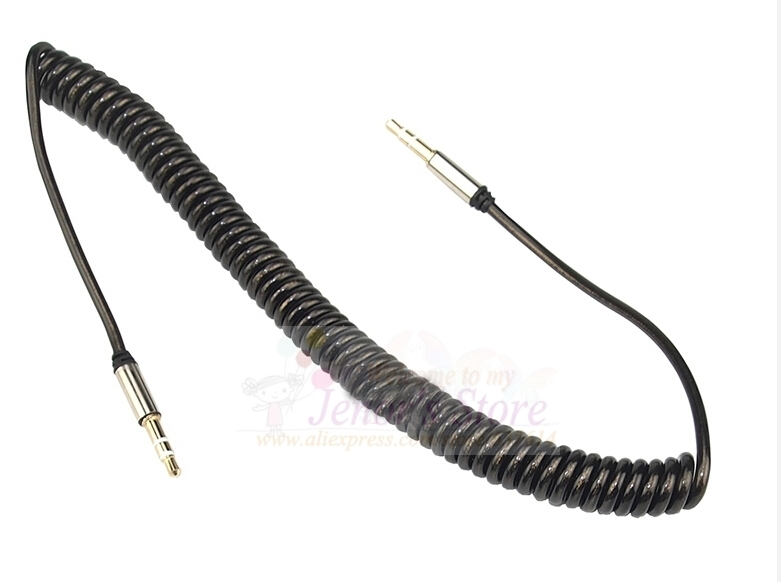 3.5mm to 3.5mm Spring Retractable Crystal Stereo Audio AUX