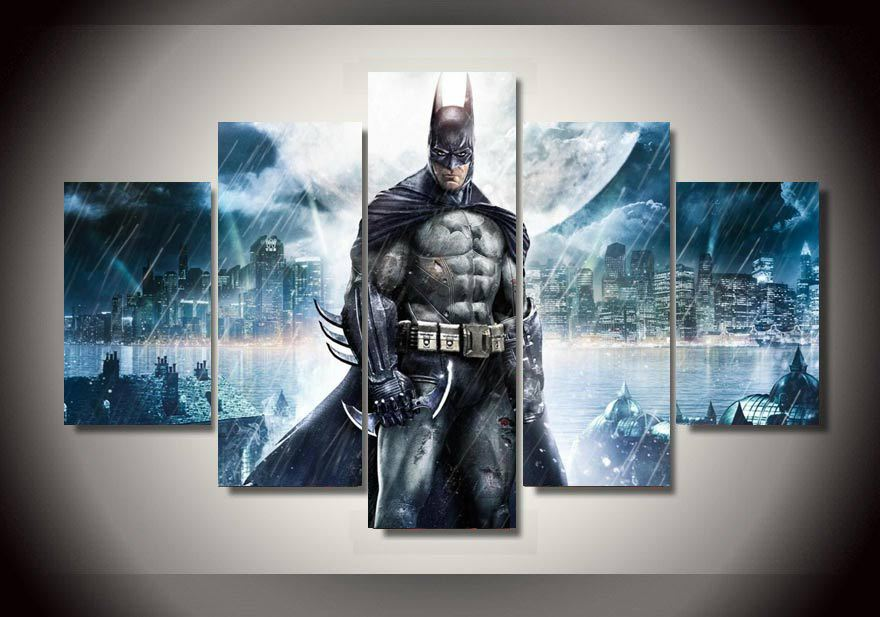 2016 new arrival paintings cuadros high quality framed batman movie group painting children