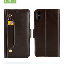 CKHB Xs натуральная кожаный чехол-сумка для телефона для iPhone X 8 7 Plus 6 6 S плюс Сотовый Телефон держатель для карт флип-чехол делам последним