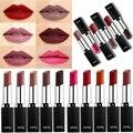Cosmeticos Rouge a Levre Lot Vino Rojo Mate Lápiz Labial de Larga Duración Maquillajes Lippenstift Mate lápiz Labial labios carnosos