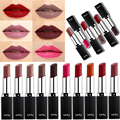Cosmeticos Rouge a Levre Lot Wine Red Matte Lipstick Long Lasting Maquillajes Lippenstift Matt Lip Stick labios carnosos