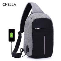Men Anti Theft Backpack USB Rechargeable Crossbody Women Bags Boys Girls Single Shoulder Bag Backpacks Sac