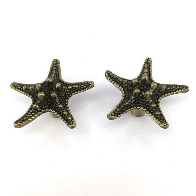Aliexpress.com : Buy Antique Bronze Starfish Drawer Knobs Pulls ...