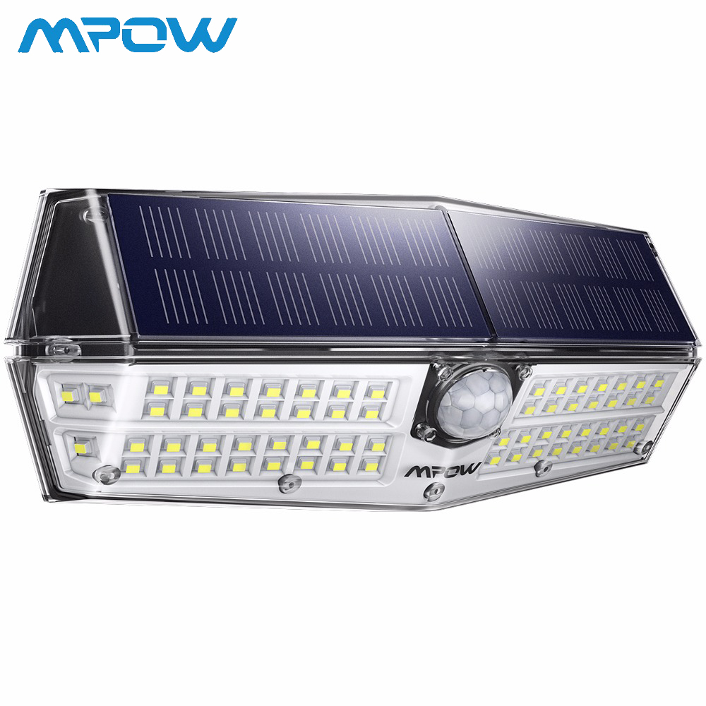 66 LED Solar Lights MPOW CD174 Motion Sensor 3 Lighting Modes Powerful IP66 Waterproof Bright Wall Light Lampe Solaire Exterieur