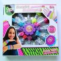 96set Lot Make Your Own Design Bracelet Braiding Kit DIY Twist 12 Bracelets Toy Rainbow Rope