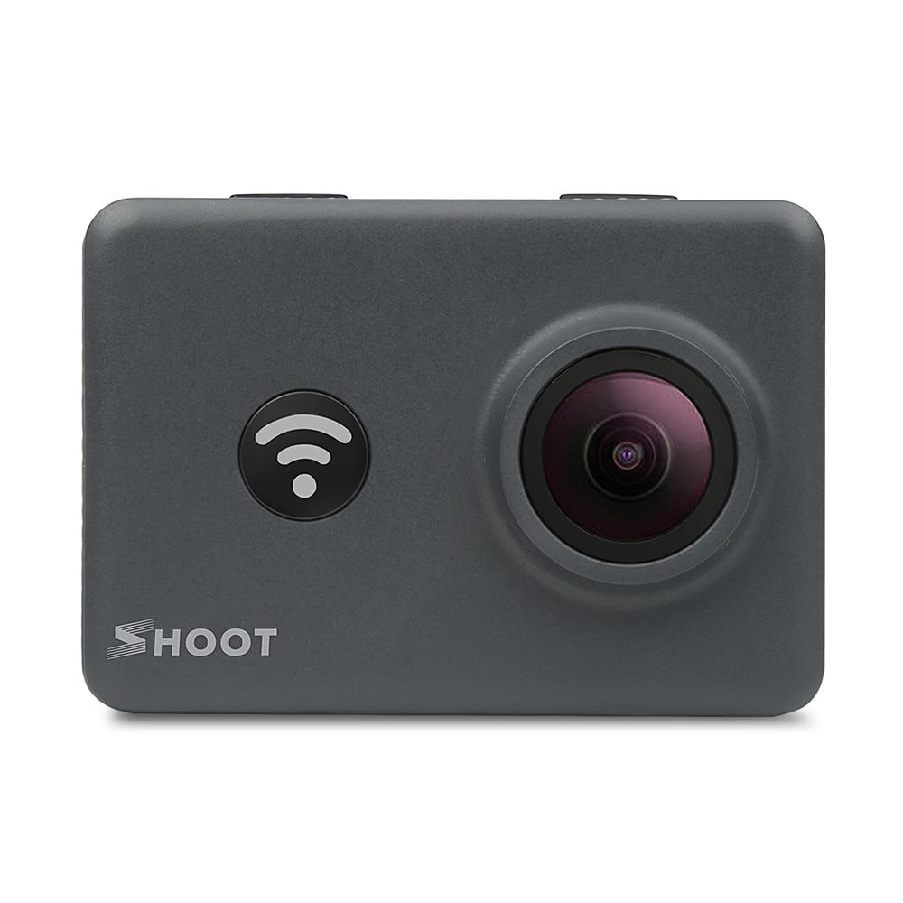 SHOOT 45M Waterproof 4K Action Camera 14MP 1080P/60FPS Ultra HD WiFi Sport Cam with 170 Wide Angle Lens Accessory Set For Go Pro тв модуль ci триколор k m evr единый ultra hd европа