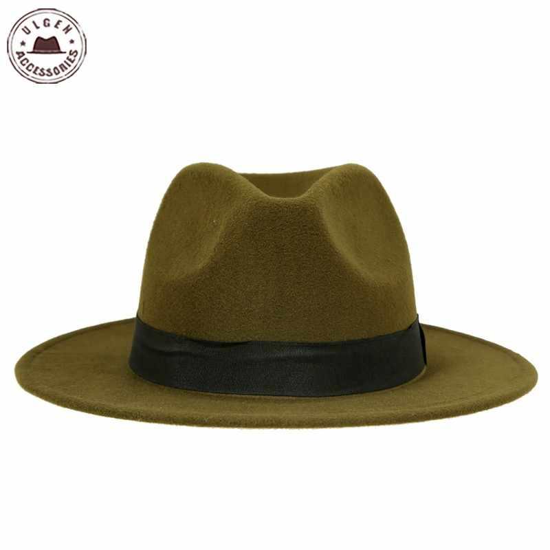 fb60e765212bc7 Hot sale cheap unisex wool Jazz hats mens fedora hat women felt hat cowboy panama  hats