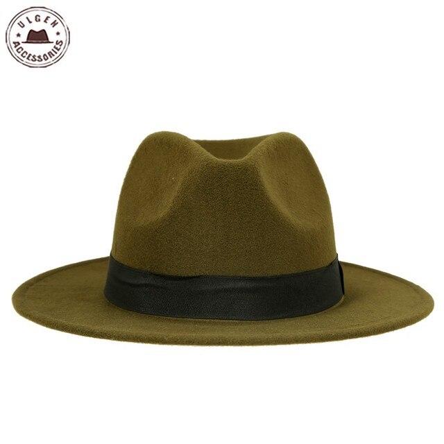 Venda quente barato unisex Jazz chapéus fedora dos homens chapéu de lã  chapéu de feltro das 05bb371bc89