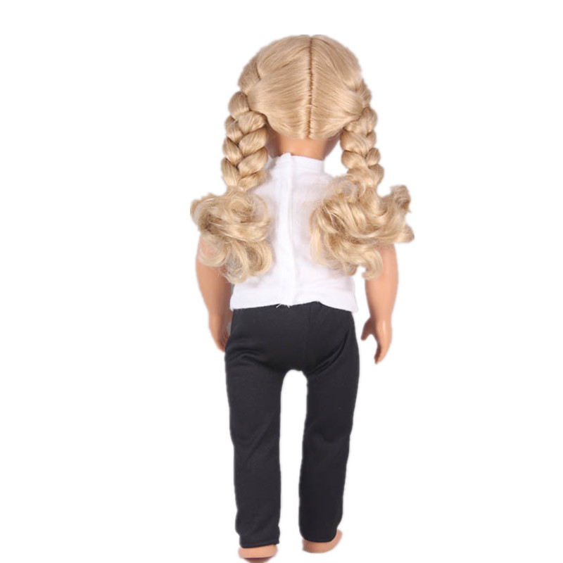 Doll Baby Born Accessories Jean Coat White Tshirt Black Pants Doll Clothes Sets American Girl Doll Clothes For 18 Inch Doll