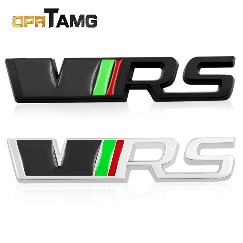 3D Metal Black Chrome VRS RS Rear emblem sticker Auto Badge trunk Decal for Skoda Fabia Octavia MK2 Rapid Superb Yet Car Styling
