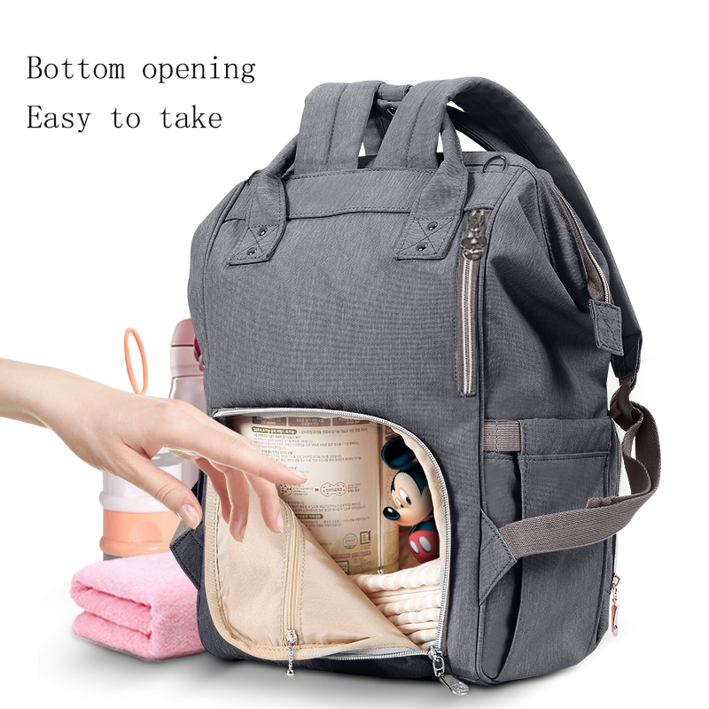 Disney Upgraded version Thermal Insulation Bag High capacity Baby Feeding Bottle Bags Diaper Bags Oxford USB Insulation Bags in Insulation Bags from Mother Kids