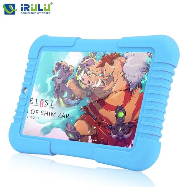 """Оригинал Y3 iRULU 7 """"синий Babypad 1280*800 IPS Android 5.1 A33 Quad Core Планшетный ПК 1 Г/16 Г iRULU для дети Tablet 4000 мАч Батарея"""