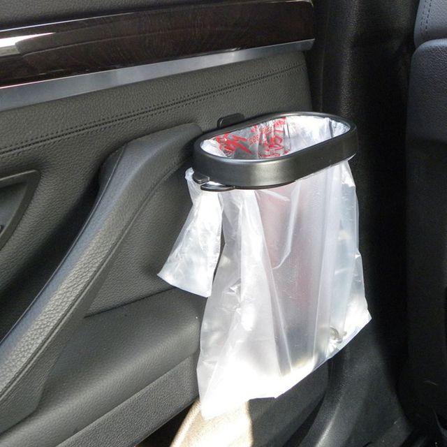 Fashion Car Garbage Bag Rack Holder Sucker Trash Hanger Removable Bin Adhesive